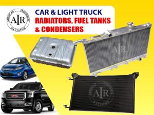 Car and light truck radiators fuel tanks condensers