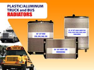 Plastic aluminum truck and bus radiators